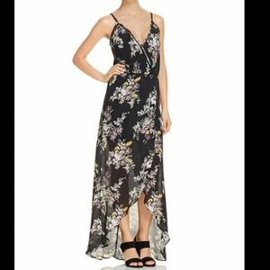 Karina Grimaldi Black Floral Hi Low Maxi Dress SM